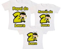 Kit 3 Camiseta Abelhinha