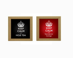 Kit 2 Quadros Keep Calm