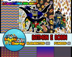 Kit Digital Scrapbook BATMAN E ROBIN