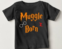 Camisetinha Harry Potter Muggle Born