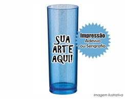 Long Drink - Azul com Gliter