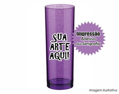 Long Drink - Roxo com Gliter