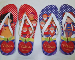 Chinelo Branca de Neve e Personagens