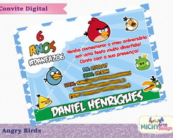 Convite Digital - Angry Birds