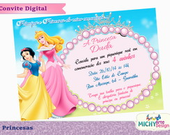 Convite Digital - Princesas Disney