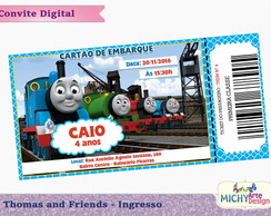 Convite Digital - Thomas and Friends
