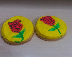 biscoito decorado rosa