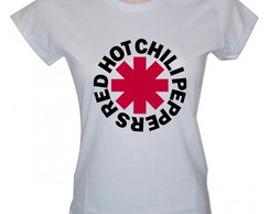 Baby Look Feminina Red Hot Chili Peppers