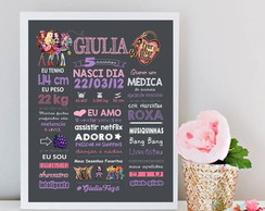 Chalkboard ever after high moldura 50X60