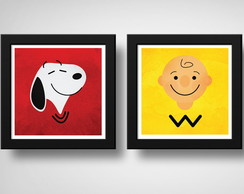 Kit 2 Quadros Snoopy & Charlie Brown