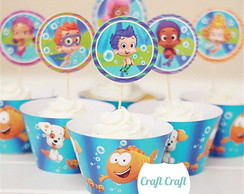 Saia de Cupcake + Topper Bubble Guppies