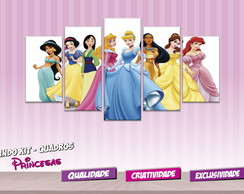 Kit Quadros Princesas Disney