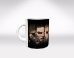 Caneca Branca de Porcelana Watch Dogs mod 3