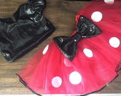 Conj Minnie top e saia