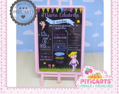 Plaquinha de mesa Alice Chalk Board