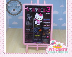 Plaquinha de mesa Hello Kitty ChalkBoard