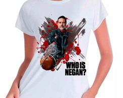 Camiseta Babylook TWD Who Is Negan