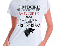 Camiseta Babylook Bad Girls Jon Snow GoT