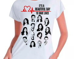 Camiseta Babylook Grey's Anatomy Save