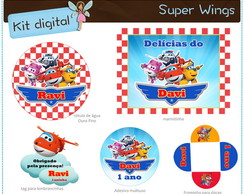 Kit festa Super Wings | para imprimir