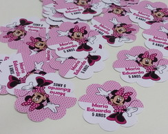 Topper/aplique Minnie Rosa 3,5cm