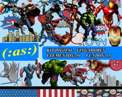 Kit Digital Scrapbook - Vingadores