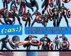 Kit Digital Scrapbook - Capitao America