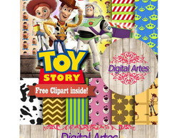 Kit Digital Papéis Toy Story