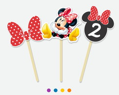 Kit com 20 Topper Minnie
