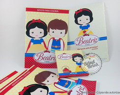Kit Colorir Branca de Neve Cute
