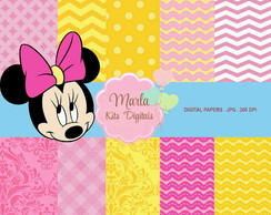 Papel Digital - Minnie Rosa