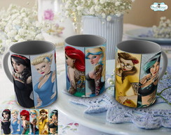 Caneca Princesas Disney Tattoo