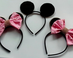 Kit Tiara Minnie Luxo e Mickey