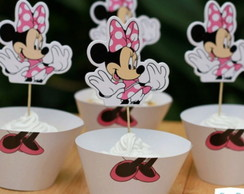 Saia de Cupcake + Topper Minnie