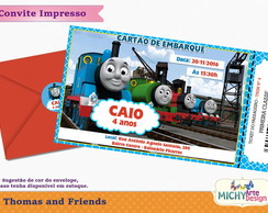 Convite Ticket Thomas and Friends