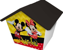 Casinha cofre - Minnie e mickey
