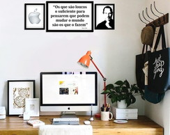 Trio de quadros Steve Jobs Kit