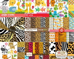 9Kit Scrapbook Digital Animais
