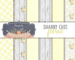 Papel Digital Floral Amarelo Shabby chic