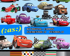Kit Digital Scrapbook Carros