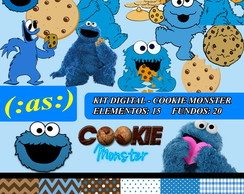 Kit Digital Scrapbook Cookie Monster