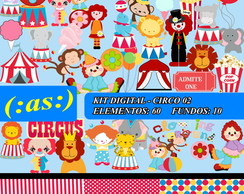 Kit Digital Scrapbook Circo 02