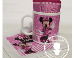 Kit caneca Minnie rosa