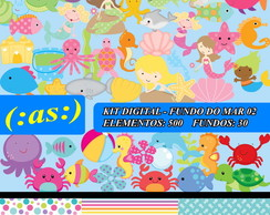 Kit Digital Scrapbook Fundo Do Mar 2