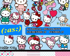 Kit Digital Scrapbook Hello Kitty