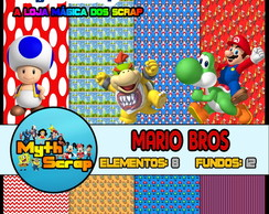 Kit Digital Scrapbook MARIO BROS