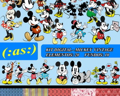 Kit Digital Scrapbook Mickey Vintage