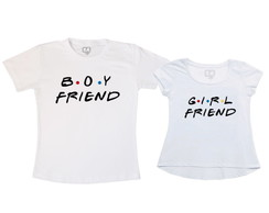 Kit Camiseta e Bata Casal Friends