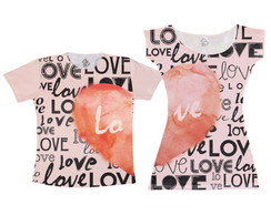 Kit Vestido e camiseta -Love