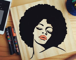 Quadro handmade - Black power Disco